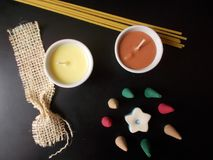 Kerzen für die Entspannung stockbild