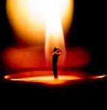 Kerzen-Flammen II Stockfotos