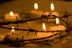 Kerzen für Freiheit Stockfotografie