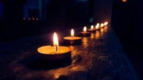 Kerzen Glühen Lizenzfreie Stockfotografie