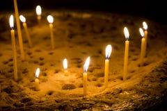 Kerzen-Glühen Lizenzfreies Stockfoto
