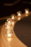 Kerzen-Glas Lizenzfreies Stockbild
