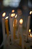 Kerzen helle Flamme Stockfotos