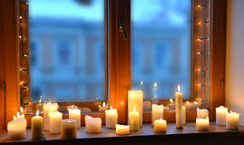 Kerzen Leuchte Lizenzfreie Stockfotografie