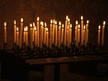 Kerzen Leuchten Lizenzfreies Stockfoto