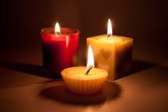 3-Kerzen-Licht Lizenzfreie Stockfotos