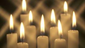 Kerzen mit Sterneffekt stock footage