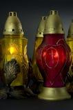 Kerzen - in Polen benannte znicze Lizenzfreie Stockfotos