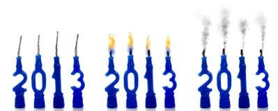 Kerzen Status 2013 Stockbild