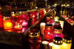 Kerzen am Tag der Hungeropfer in Ukraine Stockfotografie