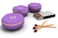 Kerzen und Abgleichungen Lizenzfreies Stockbild
