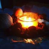Kerzen und Potpourri Stockbilder