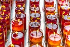 Kerzen vom chinesischen Tempel Lizenzfreies Stockfoto