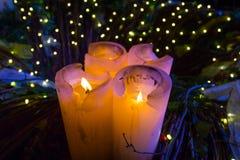 Kerzen am Weihnachten Stockbilder