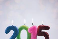 2015 Kerzen, zum des neuen Jahres zu feiern Lizenzfreies Stockbild