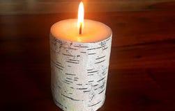 Kerzendochtbrände Stockfotos