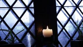 Kerzenfenster stock footage