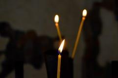 Kerzenflamme Stockbild