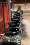 Kerzenhalter des Nepal-Tempels Lizenzfreie Stockbilder