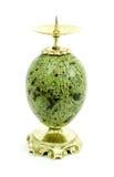 Kerzenhalter hergestellt vom Steinserpentin Lizenzfreies Stockbild