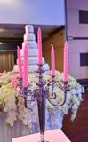 Kerzenhochzeit Lizenzfreie Stockbilder
