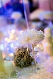 Kerzenlicht-Abendessen stockfoto