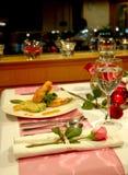 Kerzenlicht-Abendessen Stockbild