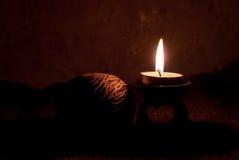Kerzenlicht-Nacht Lizenzfreies Stockbild