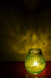 Kerzenlicht spät am Abend Lizenzfreie Stockfotografie