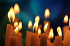 Kerzenlichter Stockbild