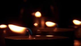 Kerzenlichter - Kontrast 01 stock video footage