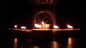 Kerzenlichter - Kontrast stock footage