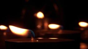 Kerzenlichter - Kontrast 01 stock footage