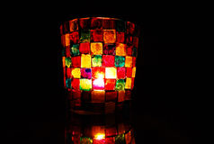 Kerzenständer des hellen farbigen Mosaiks Lizenzfreie Stockbilder