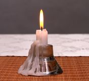 Kerzenständer für eine Kerze stockfotos
