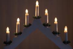 Kerzenständer-Weihnachtsdekoration Lizenzfreie Stockbilder