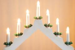 Kerzenständer-Weihnachtsdekoration Lizenzfreie Stockfotografie