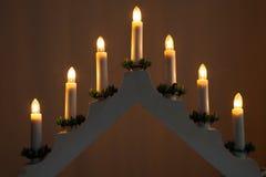Kerzenständer-Weihnachtsdekoration Lizenzfreies Stockbild
