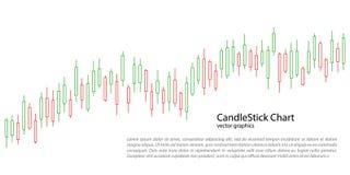 Kerzenständerdiagramm für Marktdarstellung, Bericht, Werbung Auch im corel abgehobenen Betrag lizenzfreie abbildung