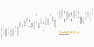 Kerzenständerdiagramm für Marktdarstellung, Bericht, Werbung Auch im corel abgehobenen Betrag stock abbildung