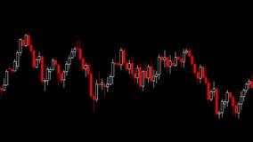 Kerzenständerdiagrammwirtschaft stock abbildung