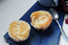 Keso - chokladmuffin royaltyfri fotografi