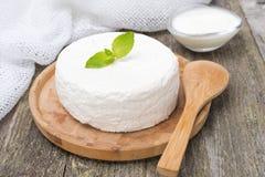 Keso och ny yoghurt Royaltyfria Bilder