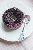 Kesopudding med blåbär Royaltyfria Bilder