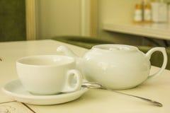 Kessel für eine Tasse Tee Stockfotos