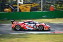Kessel som springer Ferrari 488 GT3 på Monza Fotografering för Bildbyråer