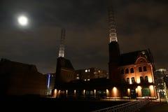 Kesselhaus à Hambourg la nuit Photo stock