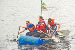 Kessock Vets racing  down the river Ness. Royalty Free Stock Photo