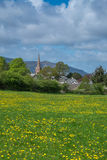 Keswick across the meadow Royalty Free Stock Photo