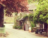 Keswick. Cafe in a small village near Keswick, Lake District, UK.  Photo in retro style. Toned image Stock Image